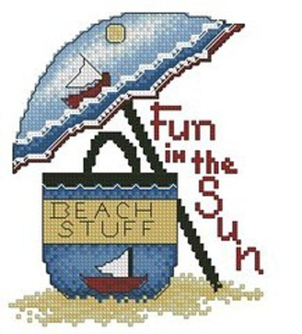 Consegna Veloce Needlework, Fai Da Te Punto Croce, Set Per I Kit Da Ricamo, 11ct E 14ct, Ombrelli Sulla Spiaggia Con Borse