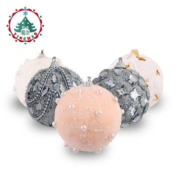 inhoo 78cm Merry Christmas Rhinestone Glitter Baubles Balls Christmas Tree Hanging Ornaments Decor foam balls Styrofoam Balls Кормушка