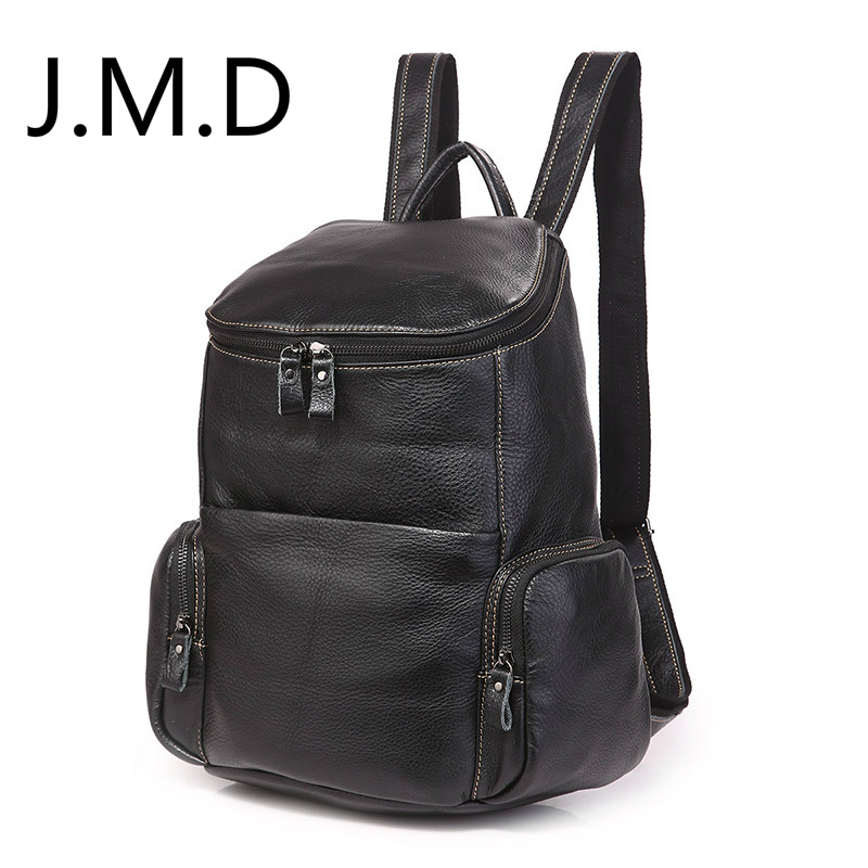 цена J.M.D 2018 New Arrival 100% Classic Leather Travel Bags Cowboy Genuine Leather Men's Trendy Backpacks Shoulder Bag 7336