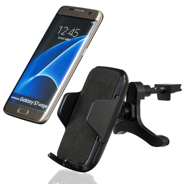 360 Rotation Wireless Car Charger Air Vent Mount Holder Charger for Samsung S7/S7 Plus/S6/S6 Edge(Plus) and Other Qi Smartphone