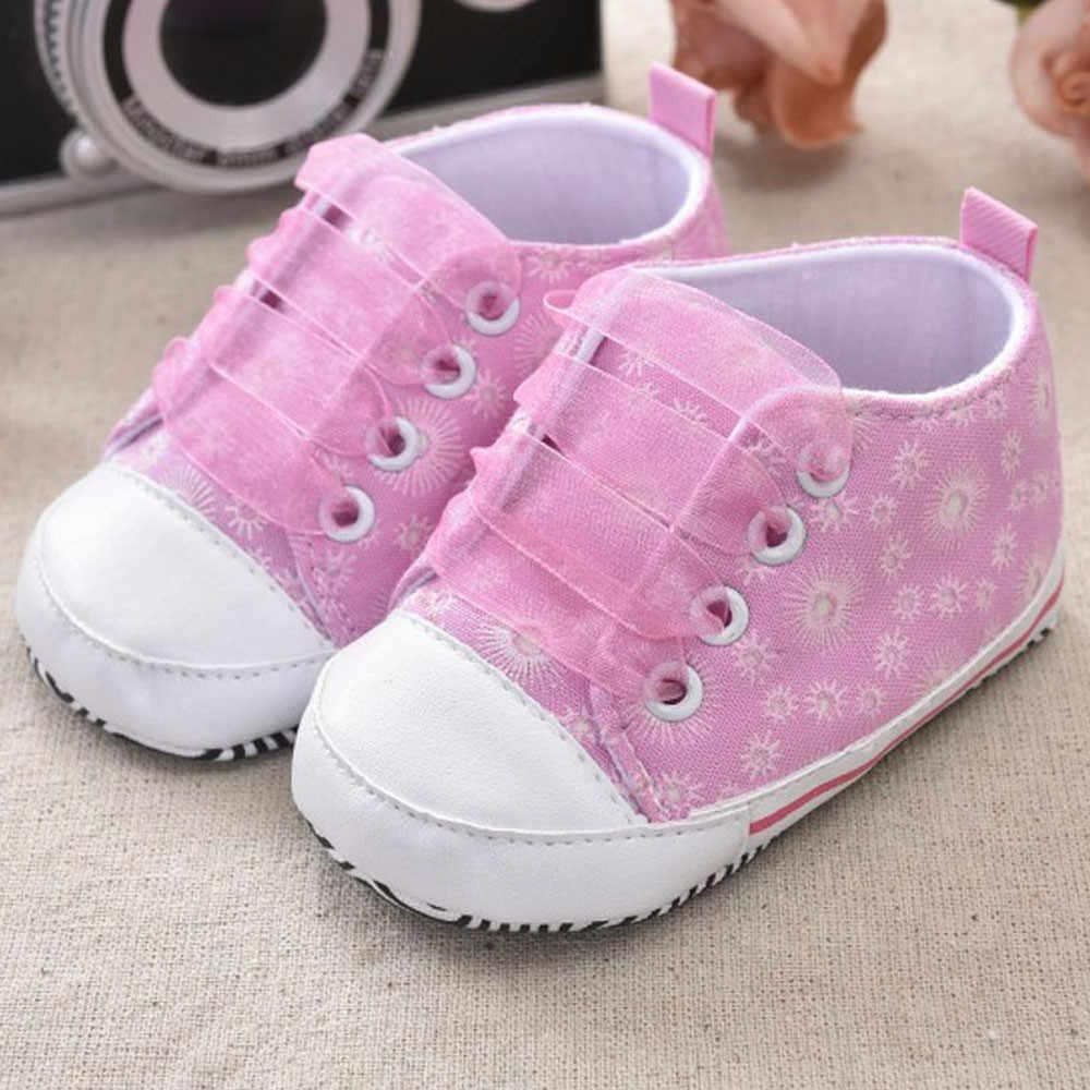 Giày Sơ Sinh Dễ Thương Giày Tập Đi Cho Bé Kids Cho Bé Gái In Hình Băng Giày Vải Zapatos De Bebe Nenas1.789