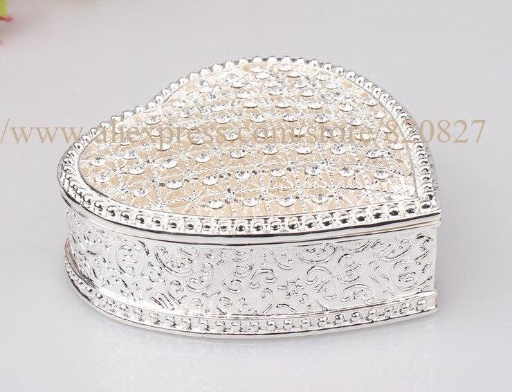 Vintage coeur forme strass avec émail bibelot boîte, boîte à bijoux meilleur GiftsBox pour l'affichage de l'emballage de bijoux