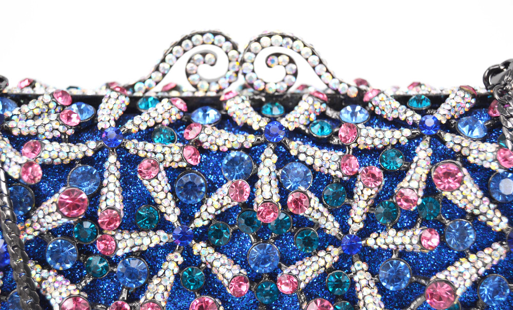 Kryształ diament czarny/różowy/czerwony/złoty/srebrny torebka wieczór sprzęgła torba dla nowożeńców diamentowe torebki kopertówki Wedding Party minaudiere SC762 w Sprzęgła od Bagaże i torby na  Grupa 3