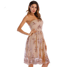 Dress Women Fashion Sexy Off Shoulder Sequined Elegant Female Streetwear Slim Party Club Dresses