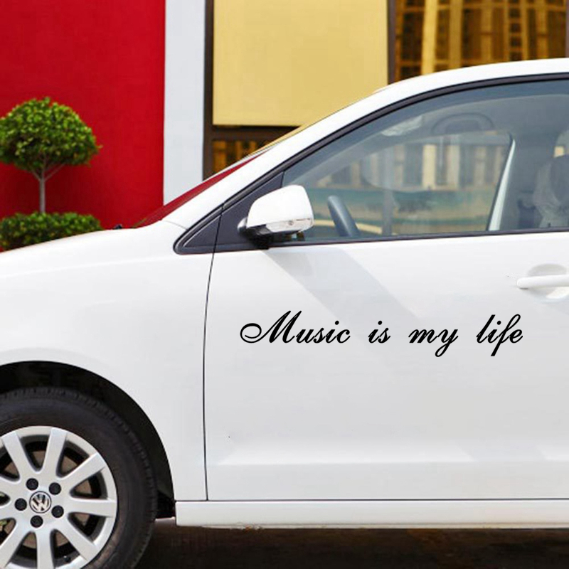 CK2311 58 10cm music is my life car sticker vinyl decal silver black car auto stickers for car bumper window car decoration in Car Stickers from Automobiles Motorcycles