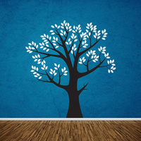 Wall Art Tree T9 TWO COLOR LRG MIRRD Vinyl Decor Decal Sticker Mural T9G 72X66inch