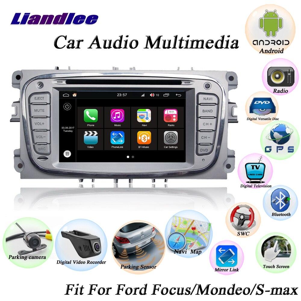 Système Android de voiture Liandlee pour Ford pour la mise au point pour Mondeo s-max Radio lecteur CD DVD GPS Navigation Navi HD écran TV multimédia