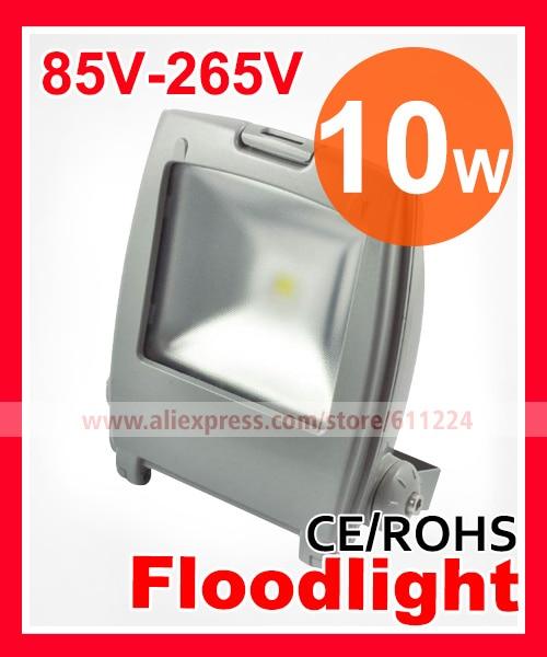 20pcs/lot 10W LED Floodlight  High Power LED Outdoor Light AC 85V-265V 2 Years Warranty  by Fedex/DHL