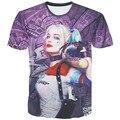 Comando Suicida y León 3D Impresión Batman Joker Harley Quinn Cosplay Mens 3D Camiseta CS27835