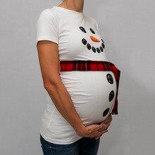 Snowman Maternity T-shirt