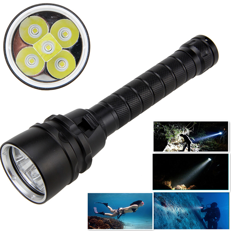AKDSteel 18000LM 7 XML-T6/15000LM XML-T6 LED Strong Light Diving Flashlight Torch Underwater Waterproof Light Tactical Lantern