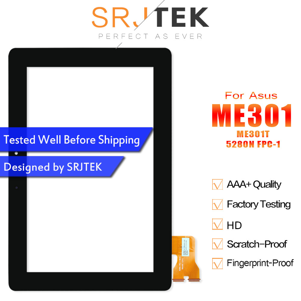 SRJTEK Digitizer For Asus MeMo Pad Smart 10 ME301 Touch ME301T 5280N FPC-1 Touchscreen Glass Sensors Tablet Screen Replacement