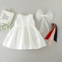 Trắng Cô Gái Công Chúa Váy Ren Bé Gái Wedding Dress Ren 0-2Years Toddler Cô Gái Quần Áo Trẻ Sơ Sinh Phép Rửa Váy Bé Váy