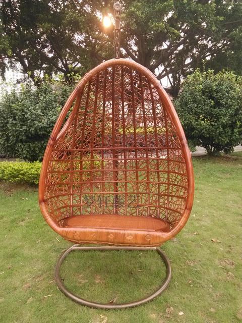Hamaca doble silla colgante de interior cesta de mimbre muebles de ...