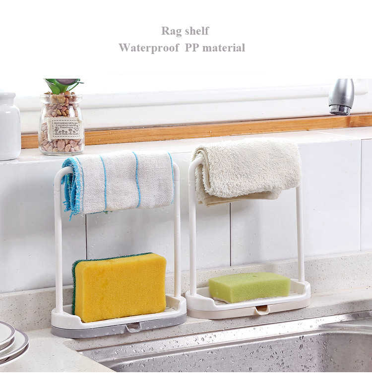 Kitchen Portable Hanging Rag Shelf Bathroom Kitchen Utensil Box Rag Storage  Rack Kitchen Counter Storage Rack Drain Bag Basket