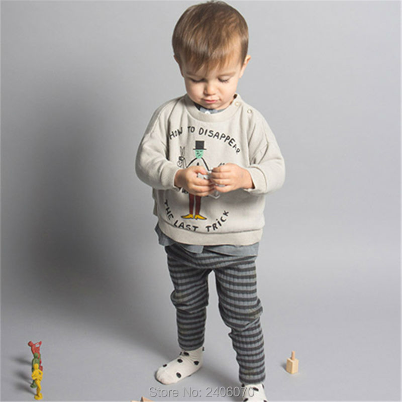 For Boys Girls Clothes T-Shirts Sweater Autumn Winter New style Baby Kids Magician Printing Tees Tops Children Clothing Cotton 2