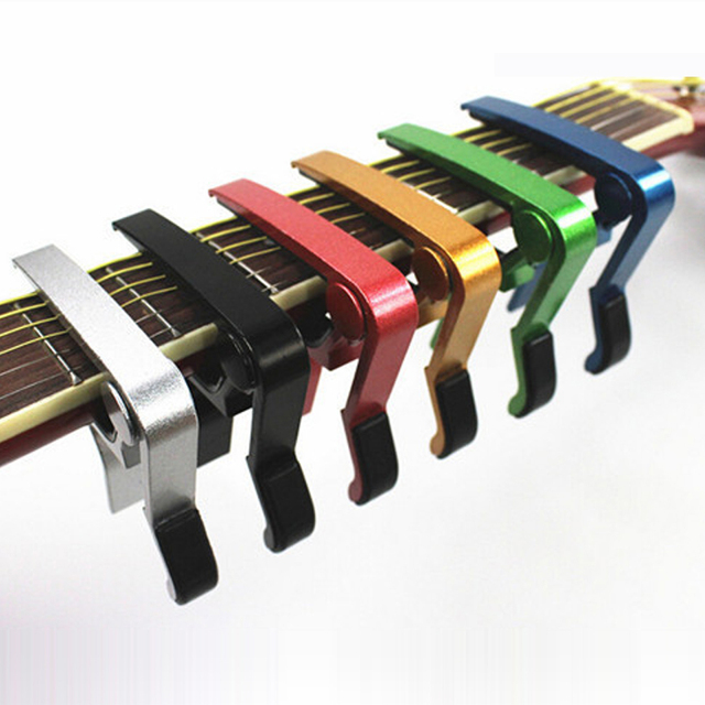 High Quality Aluminium Alloy Metal New Guitar Capo Quick Change Clamp Key Acoustic Classic Guitar Capo  For Tone Adjusting