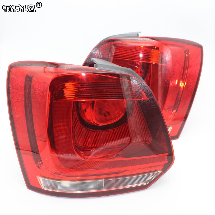 Rear Car light For VW Polo 6R Hatchback 2009 2010 2011 2012 2013 2014 New Rear Light Tail Light car rear trunk security shield cargo cover for volkswagen vw golf 6 mk6 2008 09 2010 2011 2012 2013 high qualit auto accessories
