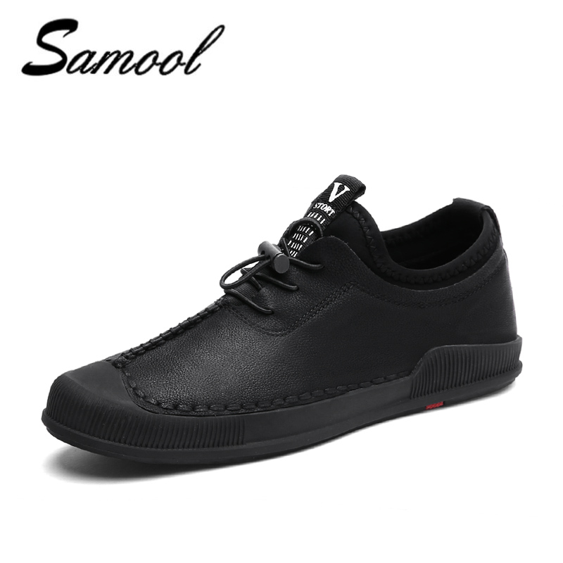 Winter Comfort Men Shoes Lace-up Genuine Leather Shoes Keep Warm With Fur & Plush Casual shoes male business zapatos hombre xX5