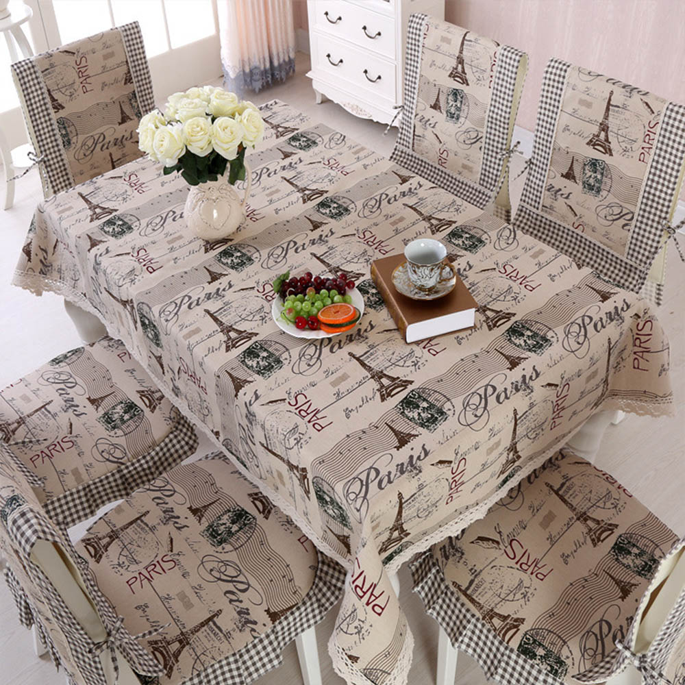 Tablecloth and napkin Collection set Paris