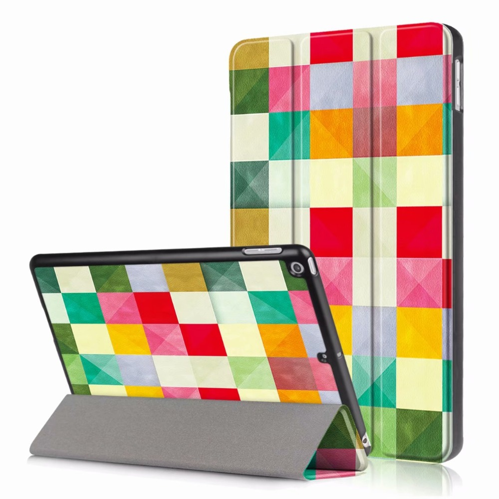 For iPad 9.7 6th Generation 1893/A1954 Hard Back PC+PU Leather stand Smart Cover for iPad 9.7 2017 2018 Case tablet fundas cases