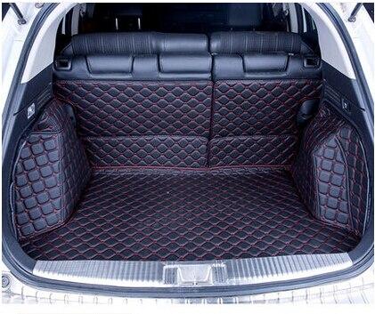 Good carpets! Full set car trunk mats for Honda Vezel 2019 2014 waterproof boot carpets cargo liner for Vezel 2016,Free shipping