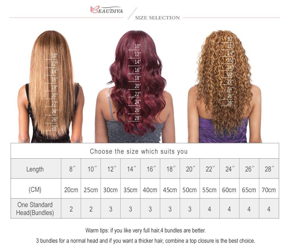 Beaudiva Hair Extension 100% Human Hair 22
