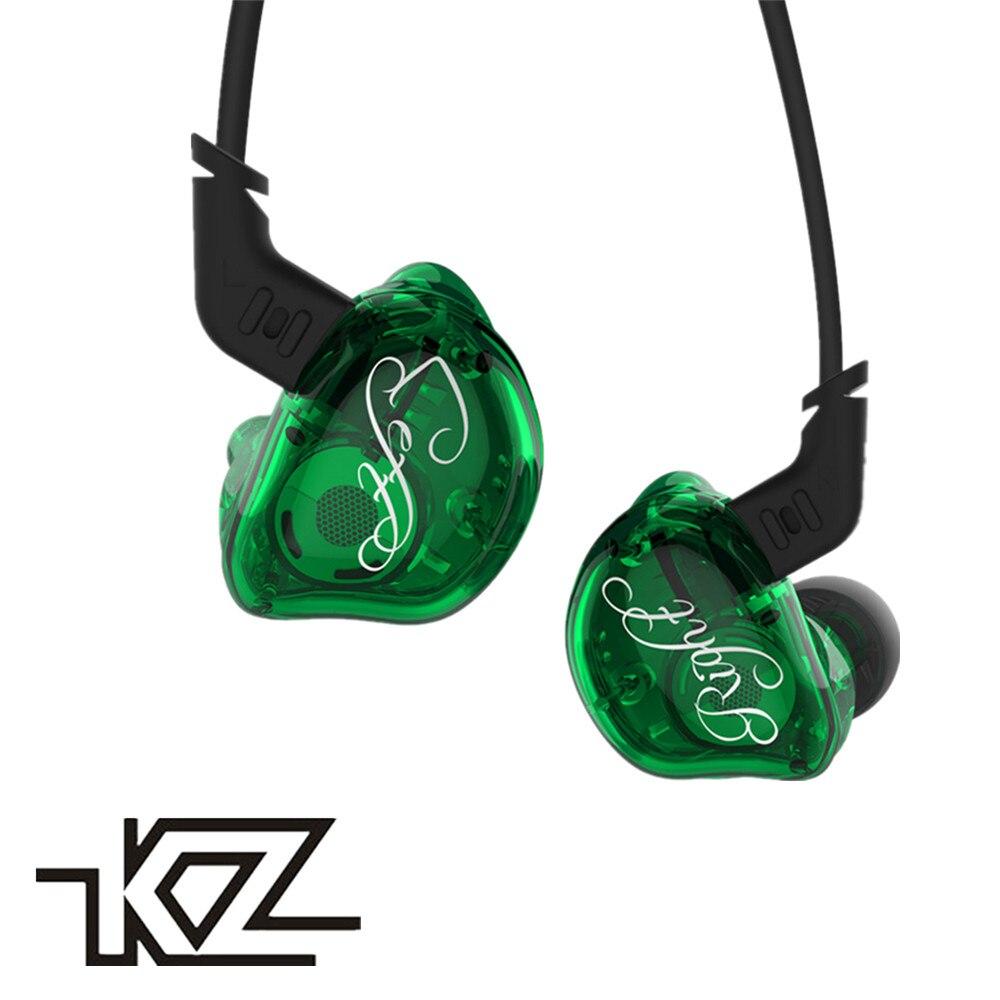 2018 KZ ZSR Armature Équilibrée Avec Dynamique In-Ear Écouteurs 2BA + 1DD Unité Antibruit Casque Avec Mic Remplacement Câble