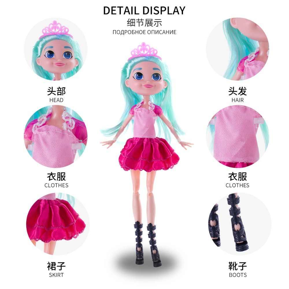 2019 nova moda boneca para menina hairdorables boneca figura criança menina mutável penteado longo boneca de cabelo 30 cm com caixa lol boneca