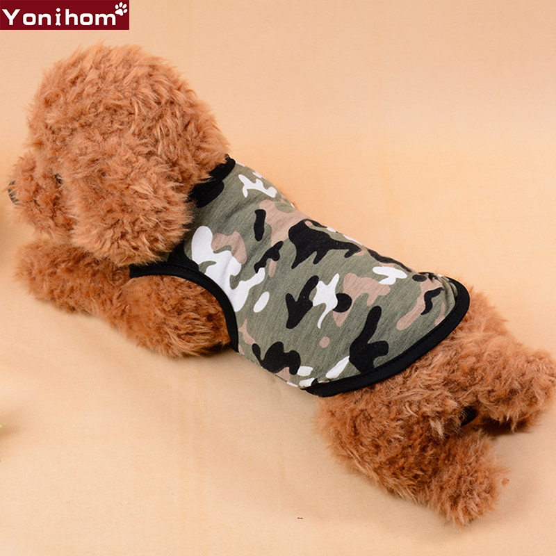 Dog Clothes for Small Dogs Vest T shirt Camouflage Fashion Clothes for Dogs Funny Pet Clothes Cat Summer Tshirt Hundeshirt Vest