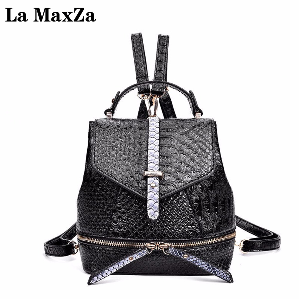 0bc62f85518c Best buy La MaxZa Simple Style Backpack Women PU Leather Backpacks For Girls  School Bags Fashion Vintage Backpack online cheap