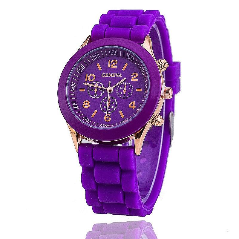 2019 Hot Sales Geneva Brand Silicone Women Watch Ladies Fashion Dress Quartz Wristwatch Female Watch Montre Montre Femme Watches
