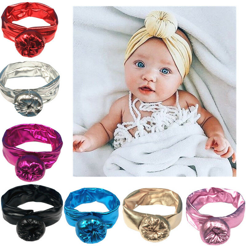 Kids Baby Girls Cute Turban Knotted Headbands Princess Toddler Infant Hair Band Dress Up Baby Hair Accessories Headwear(China)