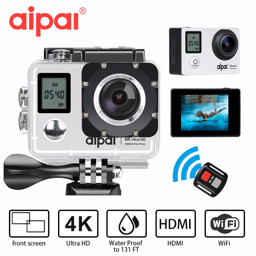 Outdoor Sports Action Camera 4K 30fps Dual Screen Wifi Ultra HD Sports DV 16MP 35M Underwater Waterproof Mini Sport video Camera