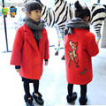 Girls Winter Coat New Arrival 2015 Girls Clothes Plus Velvet Girls Winter Coat Children Clothing Thickening Cotton-Padded Coat