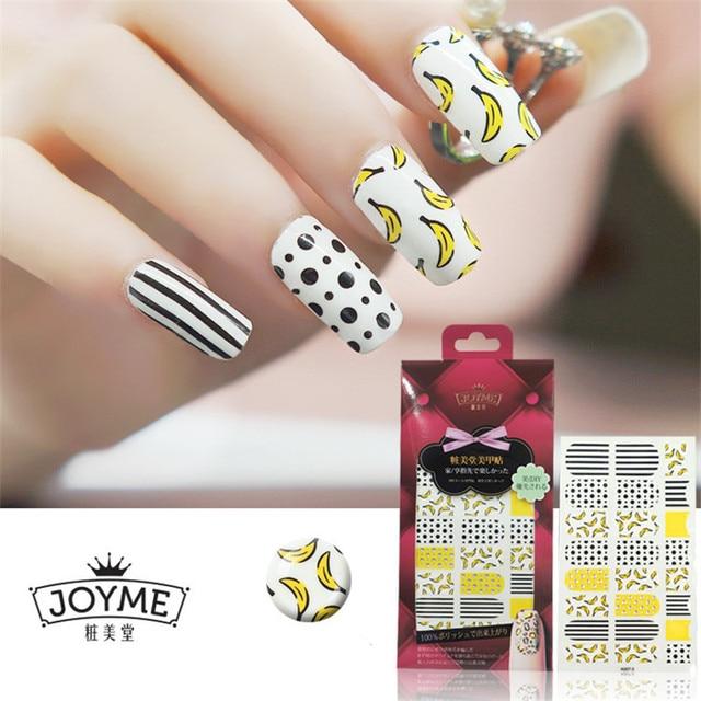 New Diy Banana Nail Art Sticker Full Cover Dot Nails Strips Decorations Adhesive Tools