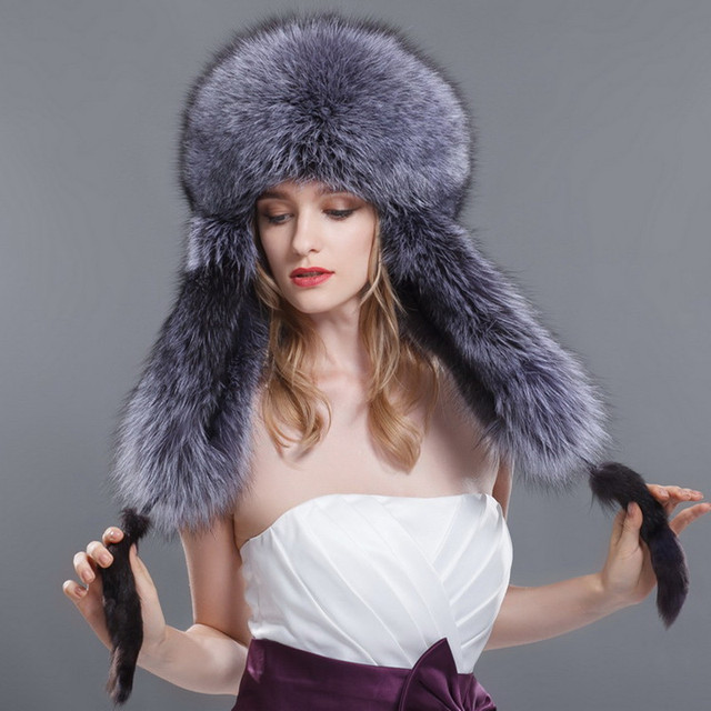 2015 women's winter hat leather strawhat fox raccoon ear protector cap female lei feng cap warm hat	outdoor hatfashion hat