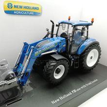 UH 4958 1:32, новая голландская модель T5.120 с погрузчиком 750TL, сельскохозяйственные тракторы, литая модель автомобиля, игрушки для детей, детские игрушки