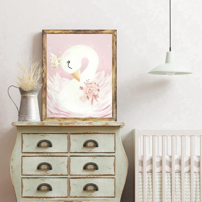 Swan Princess Canvas Art Prints Home Decor