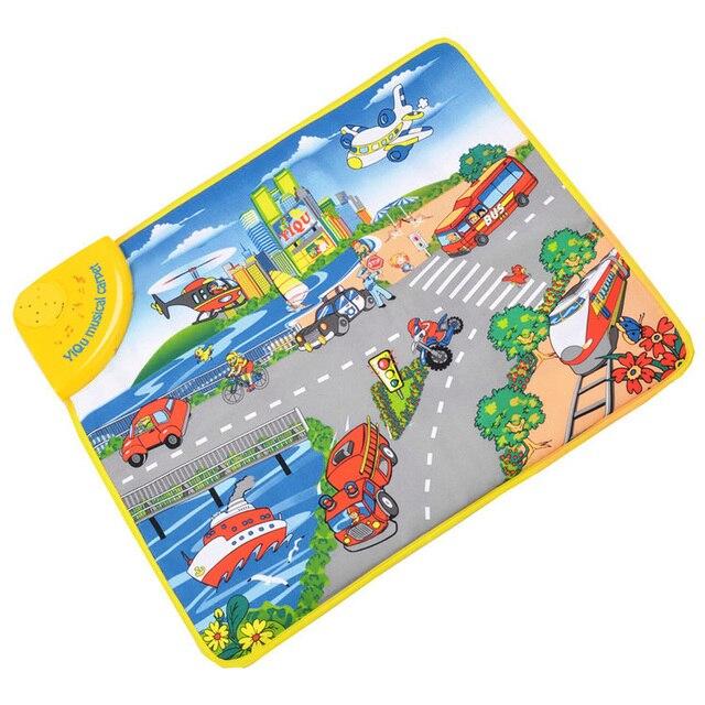 Autoteppich Kinderzimmer | Verkehr Tool Erkenntnis Spielteppiche Musical Mat Baby Krabbeln