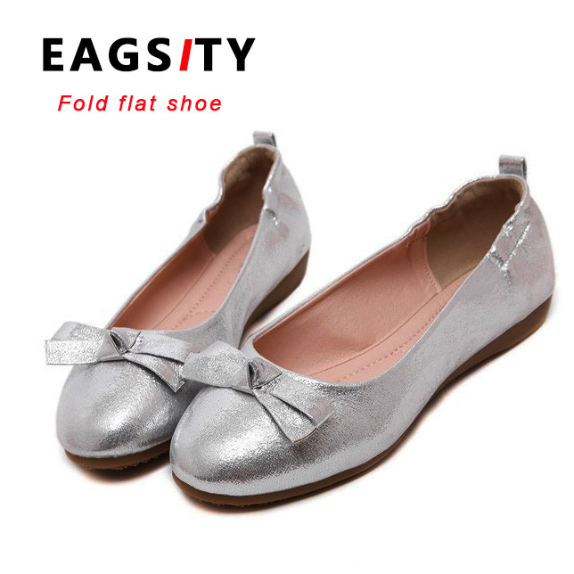 silver ladies foldable ballet shoes women flat comfortable slip on loafer  dancing shoes(China ( - Online Get Cheap Silver Flat Shoes For Women -Aliexpress.com