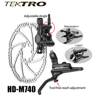 TEKTRO HD M740 Brake Set 293g/wheel MTB Hydraulic Disc Brake Forged Aluminum Dual Piston Lever + Caliper for Confident Braking