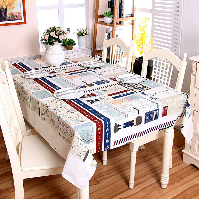 NYYBXFKDD 2017 Printed Cotton And Linen Tablecloth Rectangular Square Living Room Table DecorationChina