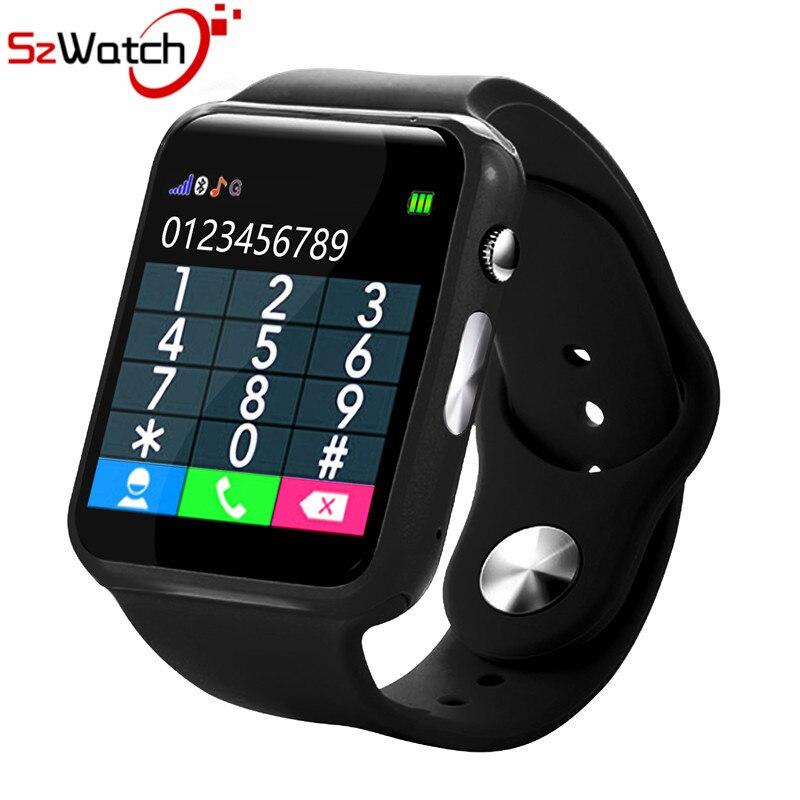 SzWatch A1 reloj inteligente con cámara de podómetro tarjeta SIM llamada M reloj inteligente para Android Smartphone xiaomi Rusia con caja de venta al por menor