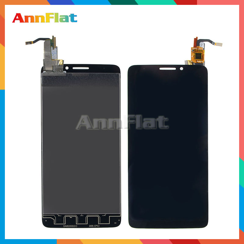 DHL EMS 10pcs/lot For Alcatel One Touch Idol X OT6040 6040 6040D LCD Display Screen With Touch Screen Digitizer Assembly