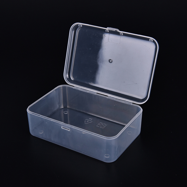 petite bo te en plastique transparent avec couvercle collection container storage case dans. Black Bedroom Furniture Sets. Home Design Ideas