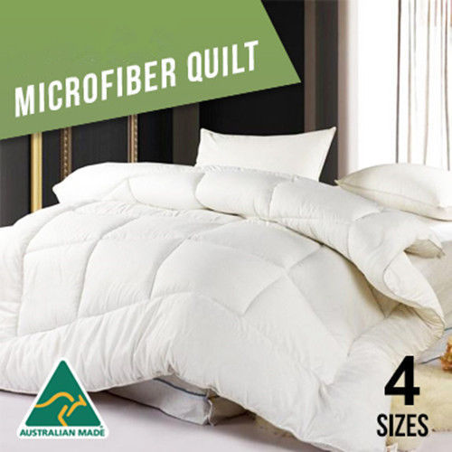 Single/Double/Queen/King/Super King 400GSM Winter Weight Microfibre QuiltSingle/Double/Queen/King/Super King 400GSM Winter Weight Microfibre Quilt