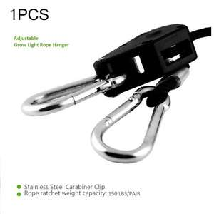 Adjustable 1 PCS 1 Pair 2 Pair 1/8 Inch Nylon Rope Ratchet Hangers for Grow Tent Room Fan Carbon Filter Led Grow Light
