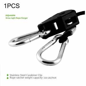 Rope Ratchet Hangers CARBON-FILTER Led-Grow-Light Grow Tent for Room-Fan 1pcs 1-Pair