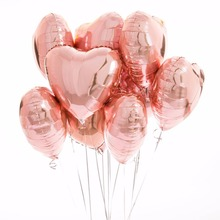 18inch Rose Gold  Heart Foil Balloons Wedding Decoration for wedding Happy Birthday Party Favors